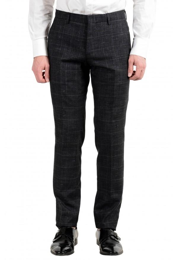 """Hugo Boss """"Huge6/Genius5"""" Men's Linen Silk Wool Slim Fit Gray Two Button Suit: Picture 4"""