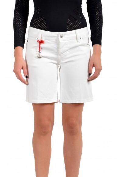 Dsquared2 Women's White Denim Bermuda Shorts