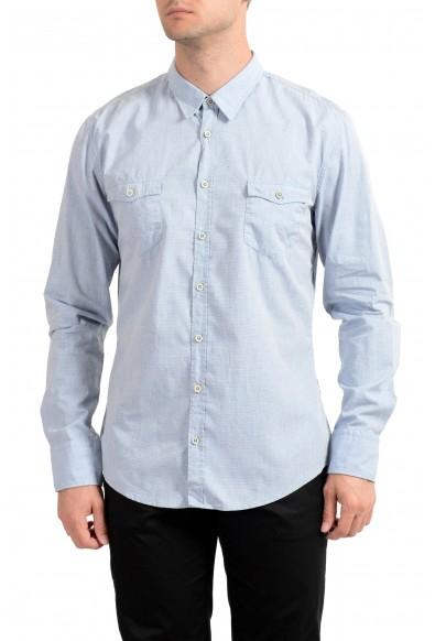 "Hugo Boss Men's ""EdoslimE"" Blue Striped Long Sleeve Casual Shirt"