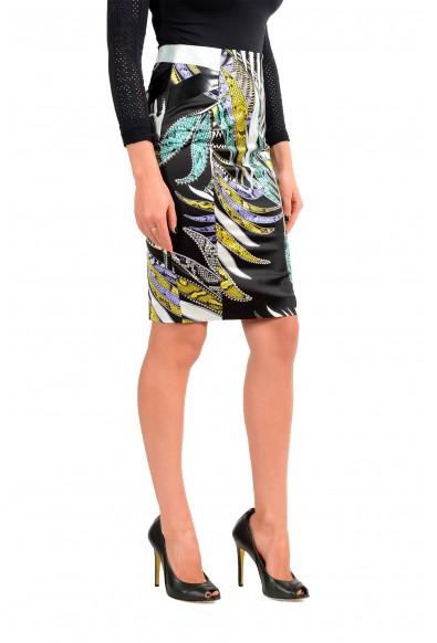 Just Cavalli Women's Multi-Color Floral Print Pencil Skirt: Picture 2