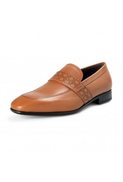"Salvatore Ferragamo Men's ""Goliath"" Hazelnut Brown Leather Slip On Loafers Shoes"