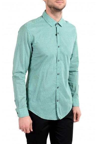 "Hugo Boss ""Rikki"" Men's Slim Green Long Sleeve Casual Shirt: Picture 2"