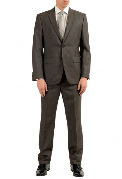 """Hugo Boss """"The Grand1/Central1US"""" Men's 100% Wool Dark Gray Two Button Suit"""