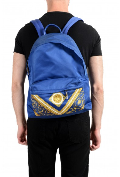 Versace Unisex Blue Barocco Print DFZ5350S Backpack: Picture 2