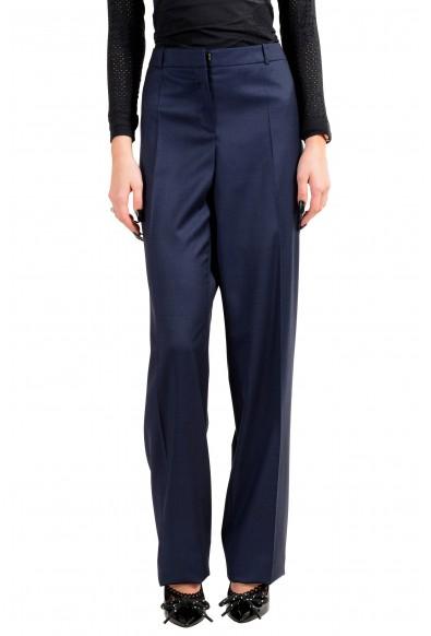 """Hugo Boss Women's """"Tamea1"""" Blue 100% Wool Dress Pants"""