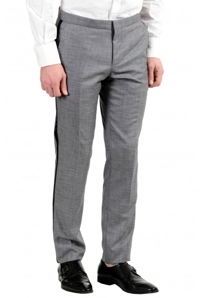 "Hugo Boss ""Novid/Bristow_1"" Men's Wool Silk Slim Gray Tuxedo Two Button Suit: Picture 2"