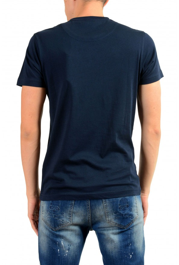 Roberto Cavalli Men's Blue Graphic Print T-Shirt : Picture 3