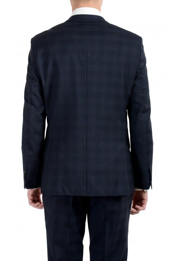 "Hugo Boss ""Johnstons2/Lenon"" Men's 100% Wool Blue Plaid Two Button Suit: Picture 4"