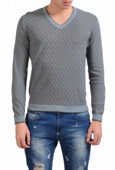 Malo Men's V-Neck Light Jacquard Sweater