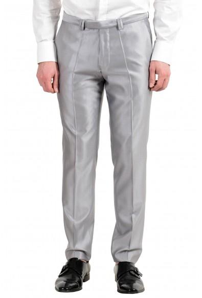 "Hugo Boss ""Arti/Hesten"" Men's Silk Wool Silver Gray Two Button Suit: Picture 2"