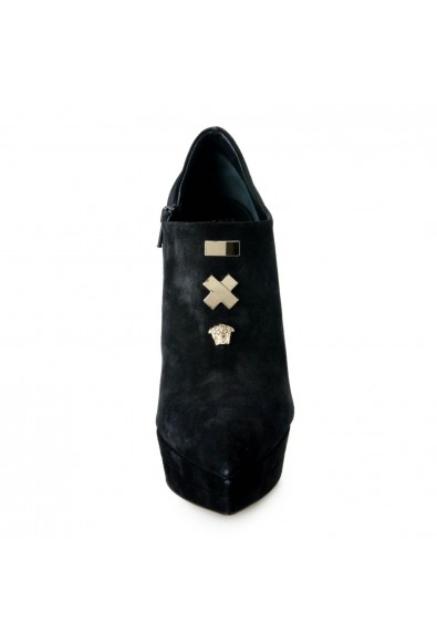 Versace Women's Embellished Zip Up High Heels Ankle Booties Shoes: Picture 2