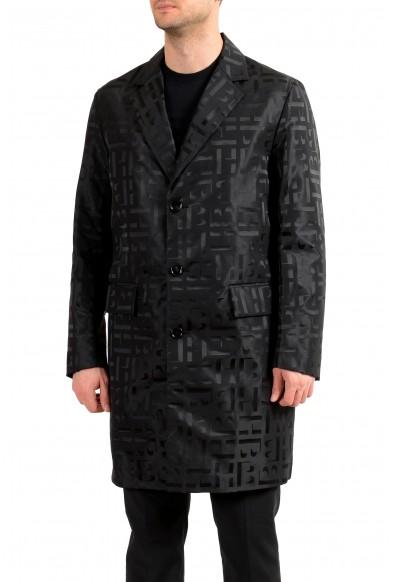 "Hugo Boss Men's ""Sasha2"" Black Slim Fit Button Down Coat"