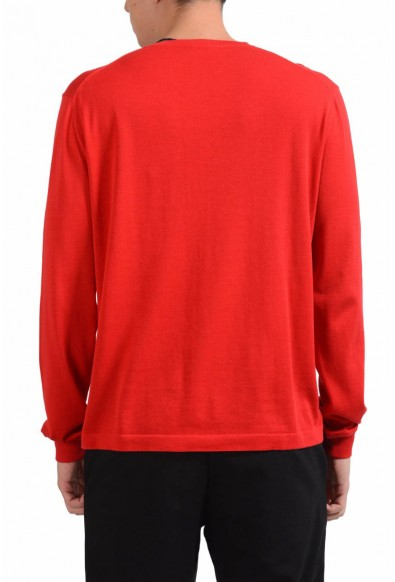 Malo Men's Red Crewneck Light Sweater: Picture 2