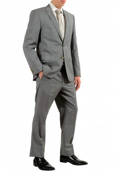 """Hugo Boss """"TheGrand1/Central1US"""" Men's 100% Wool Gray Striped Two Button Suit: Picture 2"""