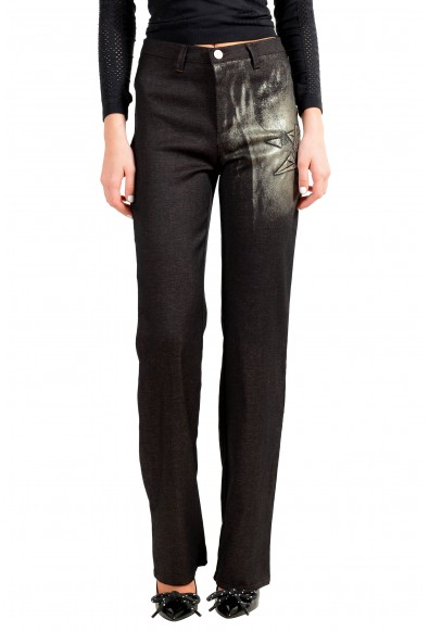 Exte Women's Wool Embellished Flat Front Casual Pants