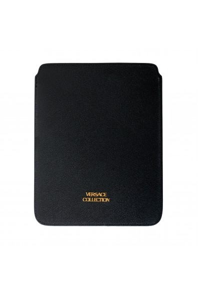 Versace Collection Black Textured Leather Cover Case