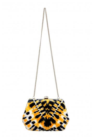Proenza Schouler Women's Multi-Color Velour Leather Clutch Shoulder Bag