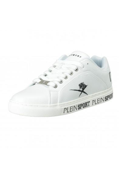 """Plein Sport """"Julian"""" White Low Top Fashion Sneakers Shoes"""