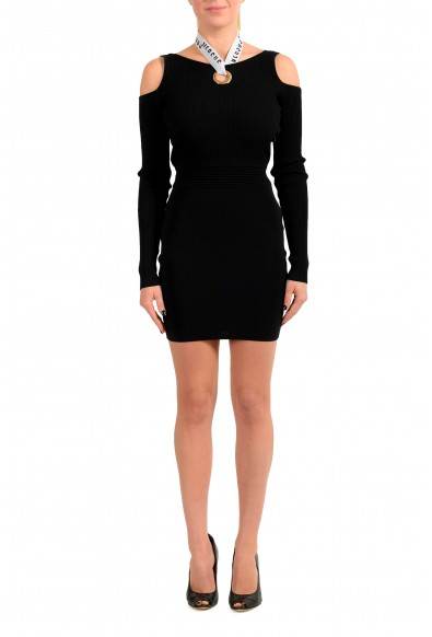 Versus by Versace Women's Black Stretch Bodycon Dress