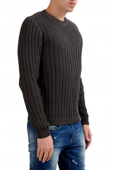 Malo Men's Crewneck Heavy Knitted Dark Gray Sweater: Picture 2