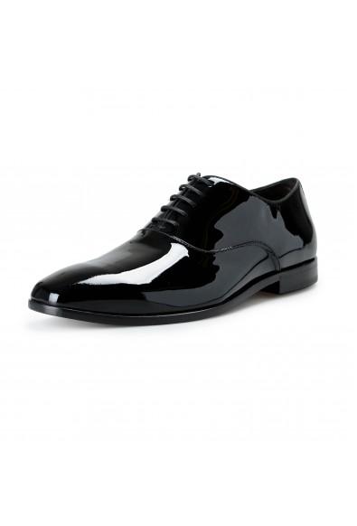 "Hugo Boss Men's ""Highline_Oxfr_pa1"" Black Patent Leather Oxfords Shoes"
