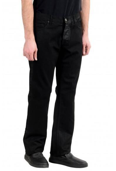Exte Men's Black Coated Straight Leg Jeans : Picture 2