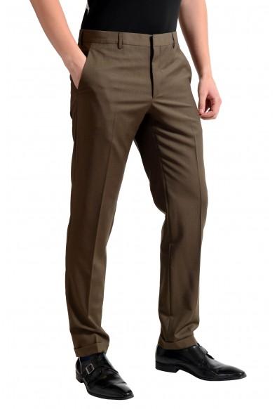 Prada Men's Wool Dark Brown Flat Front Dress Pants : Picture 2