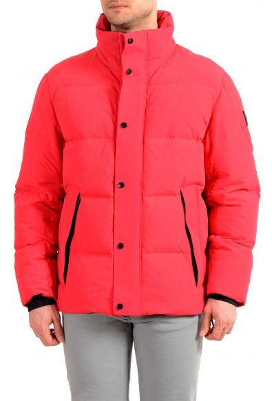 """Hugo Boss Men's """"Deil"""" Bright Red Down Parka Jacket"""