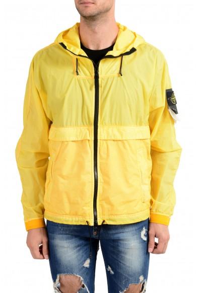 Stone Island Yellow Full Zip Men's Windbreaker Jacket