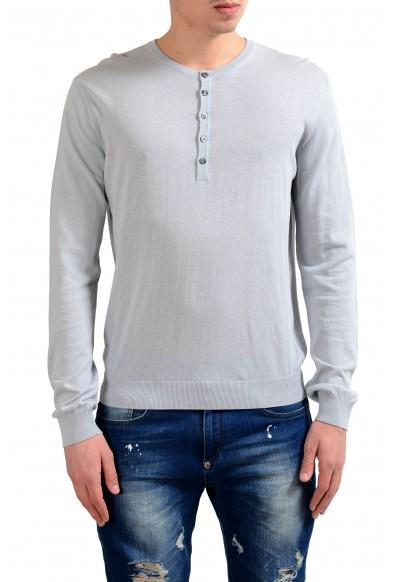 Malo Men's Gray Henley Light Sweater