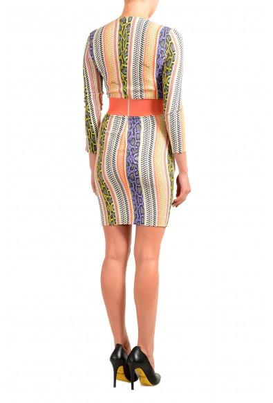 Just Cavalli Women's Multi-Color Deep V-Neck Bodycon Dress: Picture 2