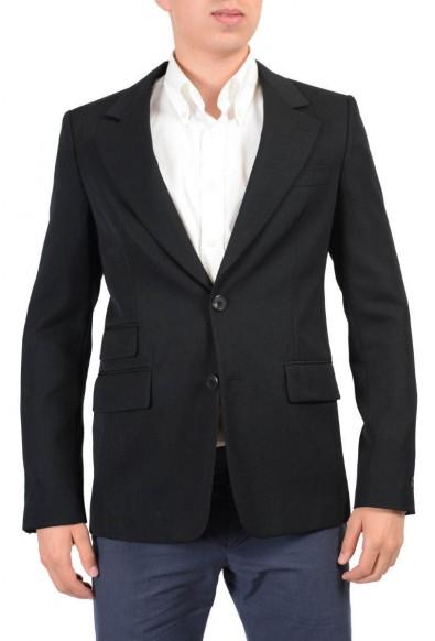 Prada 100% Wool Black Two Buttons Men's Blazer