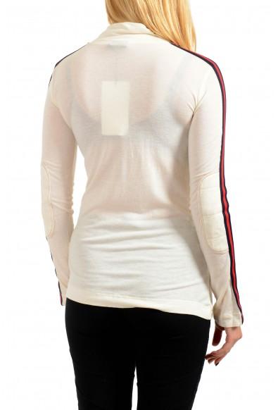 Just Cavalli Women's Wool Beige Long Sleeve 1/3 Zip Shirt Top: Picture 2