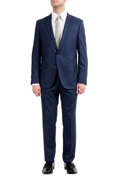 """Hugo Boss """"Novan5/Ben2"""" Men's 100% Wool Blue Plaid Two Button Suit"""