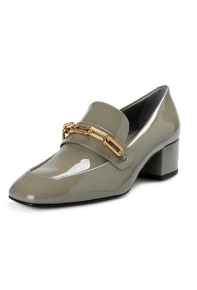 Burberry London Women's CHILLCOT Gray Patent Leather Pumps Shoes