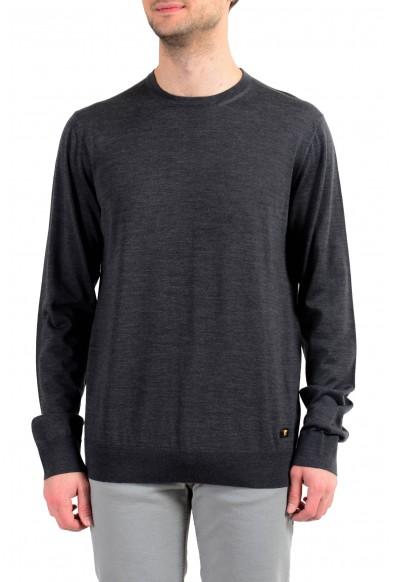 Versace Men's 100% Wool Gray Crewneck Pullover Sweater
