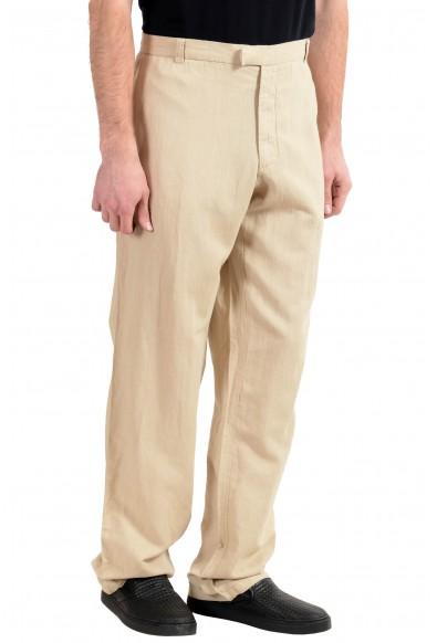 Exte Men's Linen Beige Casual Pants : Picture 2