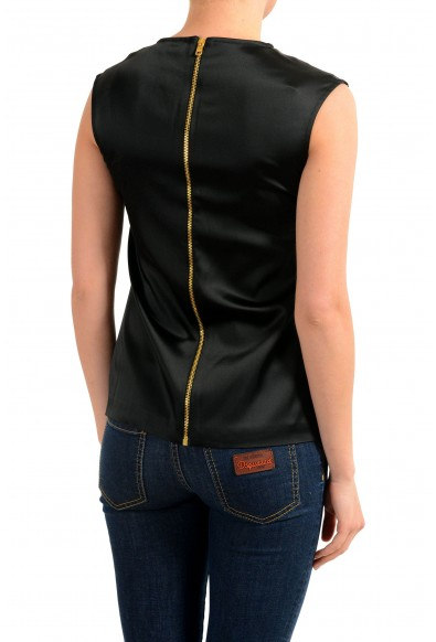 Versace Versus Women's Black Embellished Sleeveless Blouse Top: Picture 2