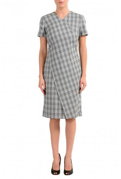 "Hugo Boss ""Dirmala"" Women's White Black Short Sleeve Sheath Dress"