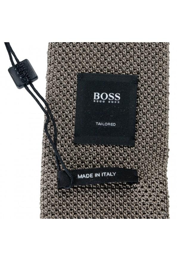 Hugo Boss Men's Sage Green 100% Silk Square End Tie: Picture 4