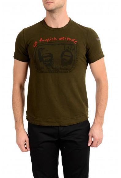 Ginfranco Ferre GF Men's Olive Green Graphic Print T-Shirt