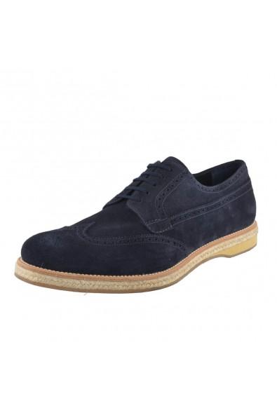 Prada Men's Nubuck Leather Oxfords Wing Tip Shoes