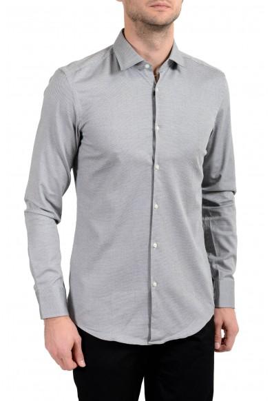 "Hugo Boss ""Jenno"" Men's Slim Stretch Gray Long Sleeve Dress Shirt"