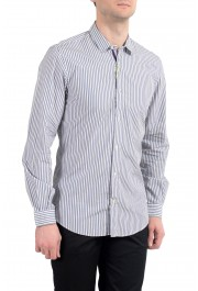 Etro Men's Multi-Color Striped Long Sleeve Button Down Casual Shirt: Picture 4