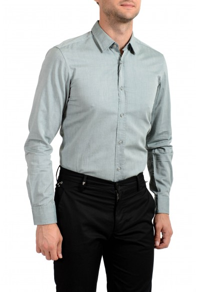 """Hugo Boss Men's """"Ronni_2"""" Slim Fit Gray Long Sleeve Casual Shirt : Picture 2"""