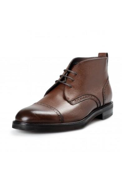 """Salvatore Ferragamo Men's """"Boyer"""" Leather Ankle Boots Shoes"""