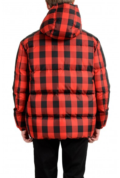 Versace Men's Multi-Color Hooded Plaid Down Parka Jacket: Picture 2