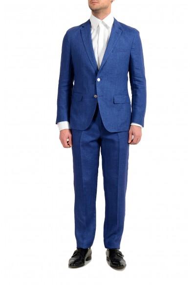 "Hugo Boss ""Helford/Gander3"" Men's 100% Linen Slim Two Button Suit"