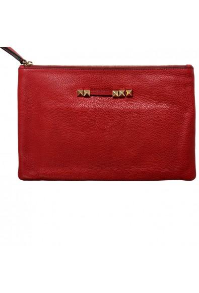 Valentino Garavani Women's Red 100% Leather Rockstud Wristlet Clutch Bag: Picture 2