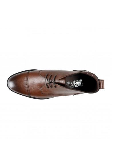 "Salvatore Ferragamo Men's ""Boyer"" Leather Ankle Boots Shoes : Picture 2"